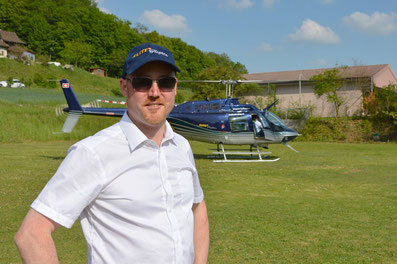 Elite Flights, Bell 206 Jet Ranger, HB-XXO, Interview Aargauer Zeitung, Expo Duo 2018