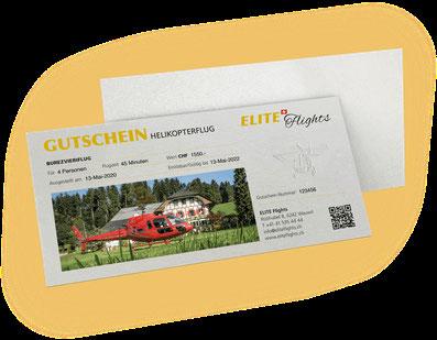 Elite Flights Gutschein Helikopterflug, Rundflug, Burezvieriflug, Helikopterrundflug, Helikopter fliegen