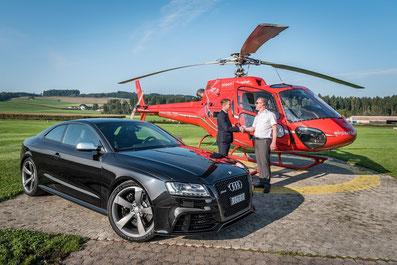 Elite Flights, AS350 B2 Ecureuil, HB-ZPF, VIP- / Taxiflug, Helikopterflug, Tarmac Beromünster, Heliflug