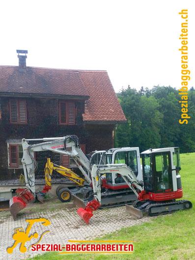 Spezial-Baggerarbeiten Adrian Krieg GmbH, Eschenbach Telefon 079 586 32 47 Maschinen