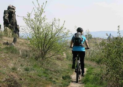 Mountainbiken: Auf flowigen Trails entlang der Teufelsmauer