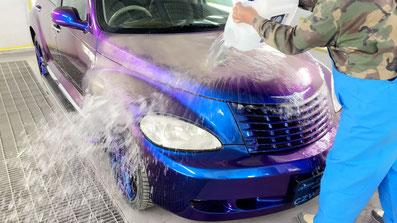 温度で色が変わる顔料で塗装した車