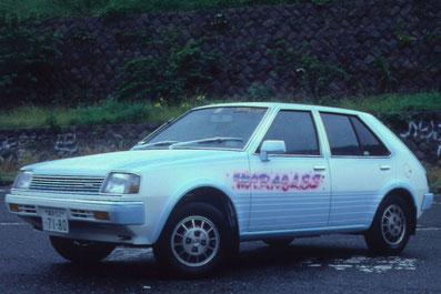 旧車カスタムペイント三菱ミラージュ