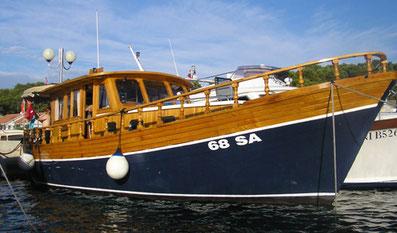Yachtcharter Kroatien Sonderangebote Holzyacht Motoryacht Luka ab Zadar Sukosan Marina Dalmacija