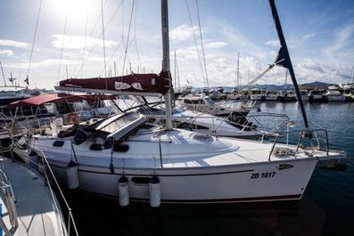 Gib Sea 33 Sunturist Yachting Yachtcharter Kroatien Sonderangebote Segelboote Segelyachten  Marina Tankerkomerc Zadar