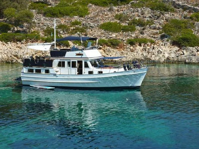 Yachtcharter Motoryacht Trawler Hampton 42 Sea Lion Zadar,  Marina Tankerkomerc