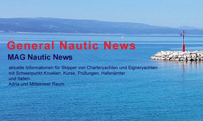 aktuelle Informationen für Skipper von Charteryachten und Eigneryachten mit Schwerpunkt Kroatien