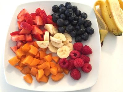 Die Früchte zuschneiden