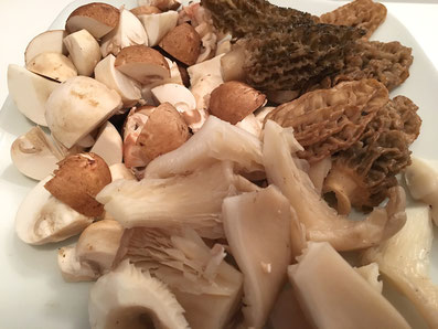 Die Pilze zuschneiden