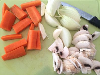 Gemüse zuschneiden