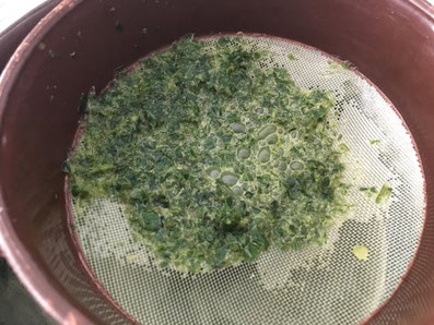 Die Basilikumpaste herstellen