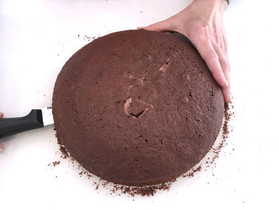 Torte quer durchschneiden