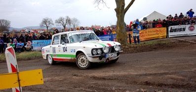 Bestes Retro-Rallye-Team 2020: Wolfgang und Fabian Michalsky auf Alfa Romeo Giulia