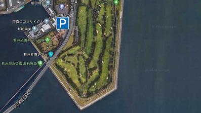 駐車場 デイゲームでシーバス連発 活性高い若洲海浜公園の朝まずめの釣り
