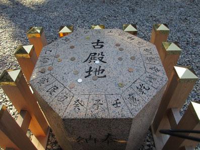 猿田彦神社 方位石=古殿地