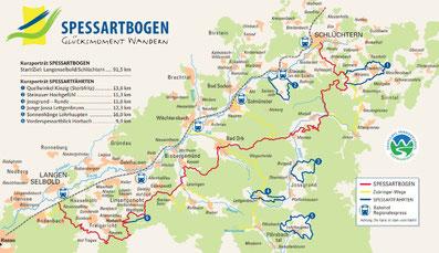 Karte Spessartbogen