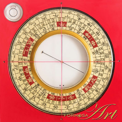 CLASSY San He Luo Pan with XL compass (5cm) by Formosa Art
