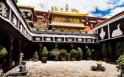 Lhasa, Tibet, Tempel, Joghang, Innen