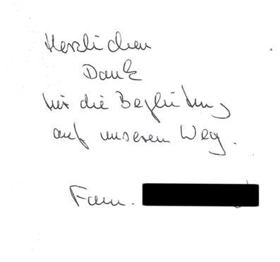 Beerdigungsunternehmen Eberswalde Dankeschön