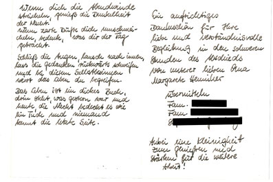 Bestatter Finowfurt Deufrains Dankeskarte