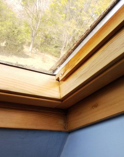 天窓の雨漏りパッキン交換 ブラインド交換