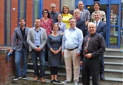 Mitarbeiter der Partnerorganisationen bei der ersten Zusammenkunft von EDRiT