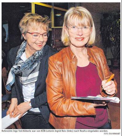 Referentin Inge Veil-Köberle war von KÖB-Leiterin Ingrid Reis eingeladen worden