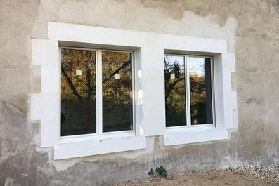 percement de fenêtre dans un mur