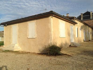 Maison avec Enduit de façade à la chaux naturelle en charente 16