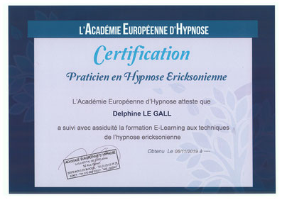 Certification hypnose Angers