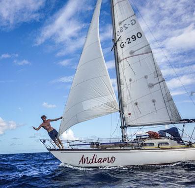 Segelnde Andiamo -  Die Segelreise zweier 19-Jähriger