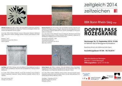 Künstlerforum Remagen VILLA HEROS / Ausstellung Deutsch-Polnische Künstlerbegegnung / Kurator und Einführung: Stefan Zajonz, Remagen 2014