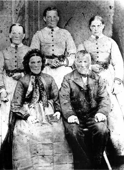 Familie Pius Brogli (fotografiert ca. 1877)
