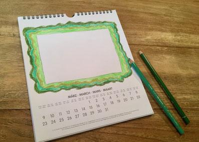 Bastelkalender, Bilderrahmen, Zeichnung
