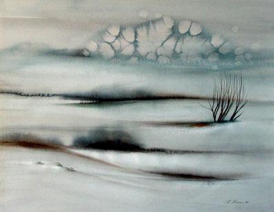 ein Hauch von Landschaft, Aquarell 1986, 62x48cm, 1.800,00 Euro