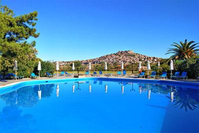 Delfinia Hotel in Molyvos   10 Places You Must Visit In Lesvos Island Greece   via @Just1WayTicket