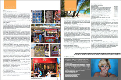 "Solo Travelist November Issue features my article ""Boracay on Budget"" by Sabrina Iovino 