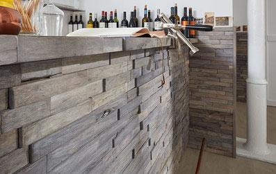 Wandverkleidung aus Echtholz von der Firma Salis