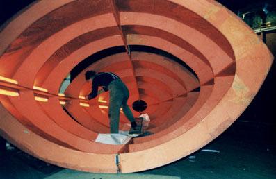 Abreiten an Installation im Schiff Greundick
