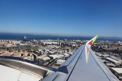 Ankunft in Lissabon, Portugal