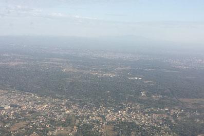 Anflug auf Nairobi, Kenia