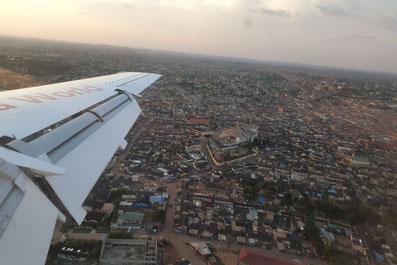 Ankunft in Takoradi, Ghana