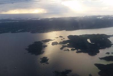 Abflug in Bergen, Norwegen
