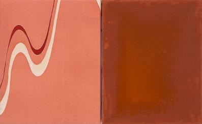 o.T. (185) 2012 Stoffdruck auf Seide, Temperafarbe 30 x 48.5 cm