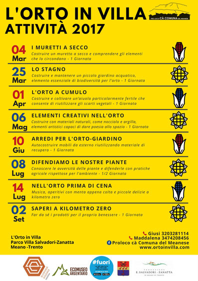 Calendario Piante Orto.Eventi In Programmazione L Orto In Villa Pro Loco Ca