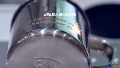 grabado laser sobre metales curvos