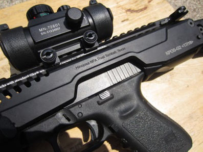 Grabado de plastico ABS, pistola de plastico grabad con laser