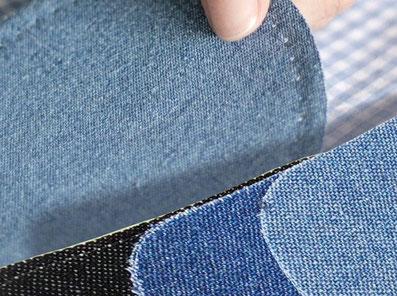 Jeans- und Baumwollflicken