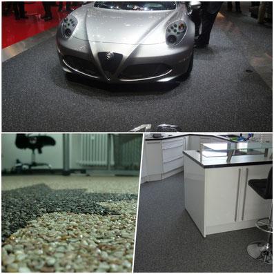Steinteppich für Autohäuser und Ausstellungsräume