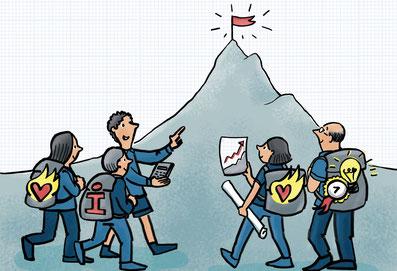 Business Illustration Vorteile für Teams